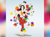 Illustration: Woman multitasking